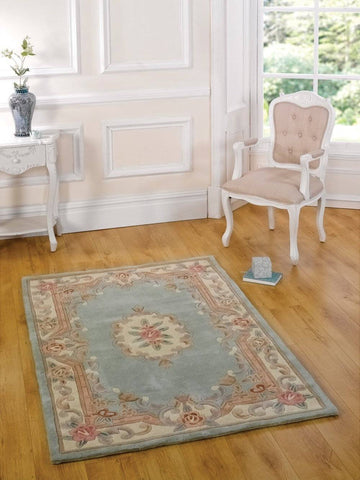 Image of Lavinia Green Area Rug RUGSANDROOMS