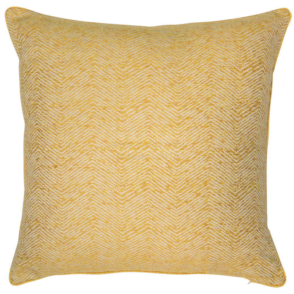 Malini Large Ripple Mustard Cushion