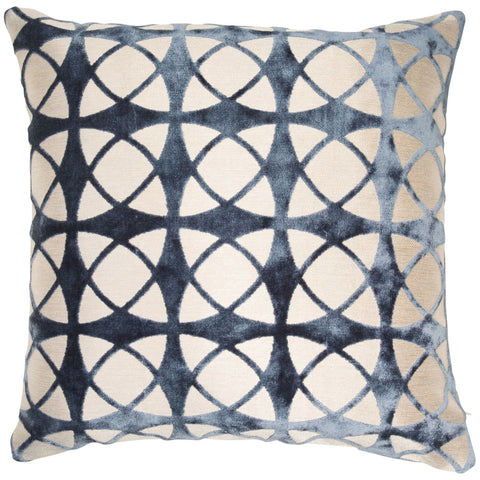 Malini Large Spiral Blue Cushion