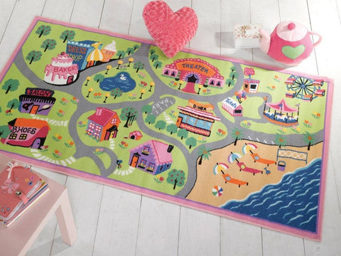 Image of Girls World Kids Rug RUGSANDROOMS