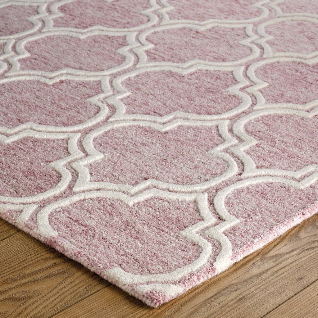 Dina Pink Area Rug RUGSANDROOMS