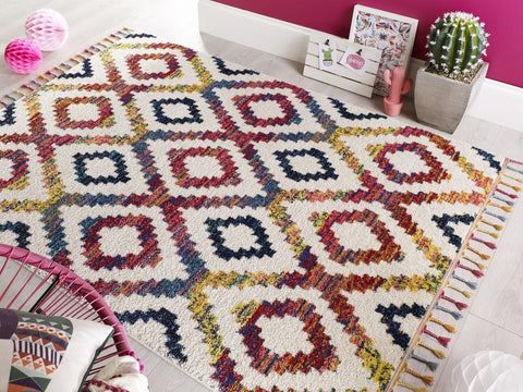 Image of Madison Multi Coloured Area Rug RUGSANDROOMS