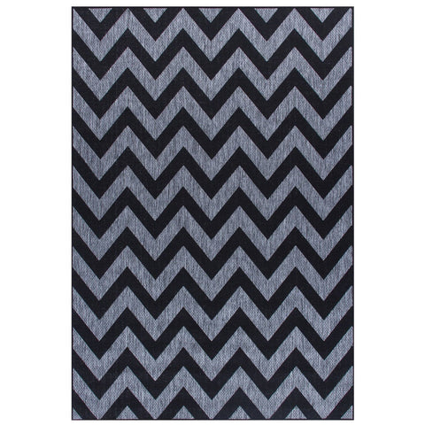 Moda Chevron Black Area Rug RUGSANDROOMS