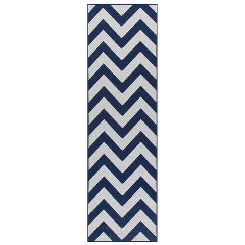 Image of Moda Chevron Blue Area Rug RUGSANDROOMS