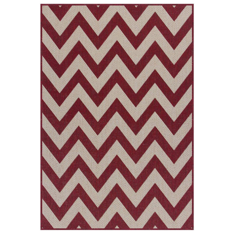 Moda Chevron Red Area Rug RUGSANDROOMS