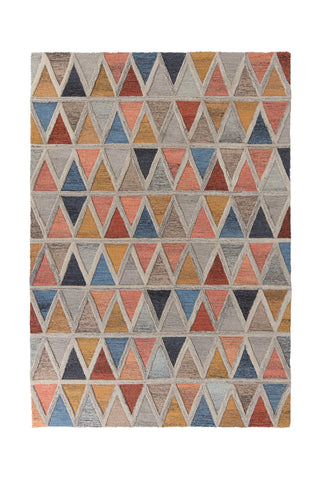 Image of Triangle Orange and Blue Area Rug
