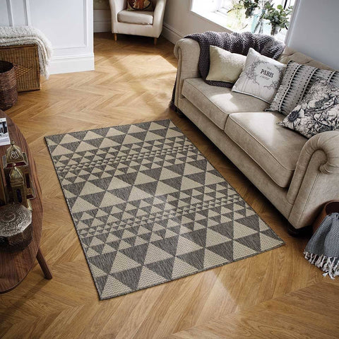 Mona Prism Grey Area Rug RUGSANDROOMS