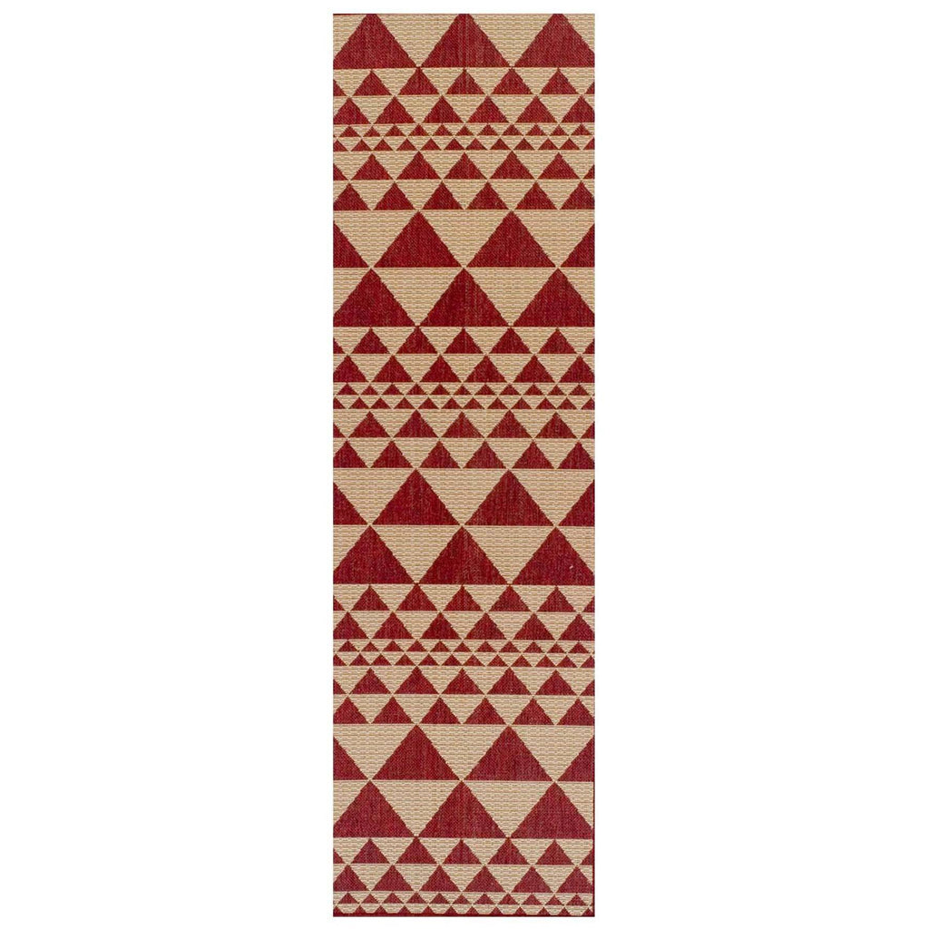Mona Prism Red Area Rug RUGSANDROOMS