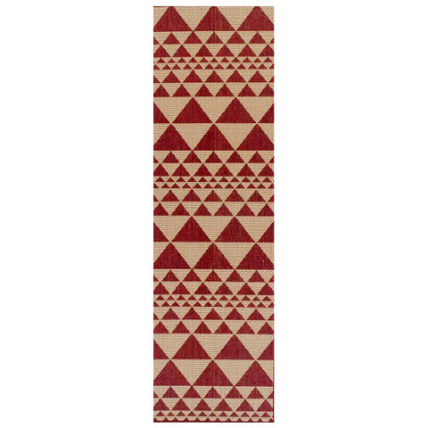 Image of Mona Prism Red Area Rug RUGSANDROOMS