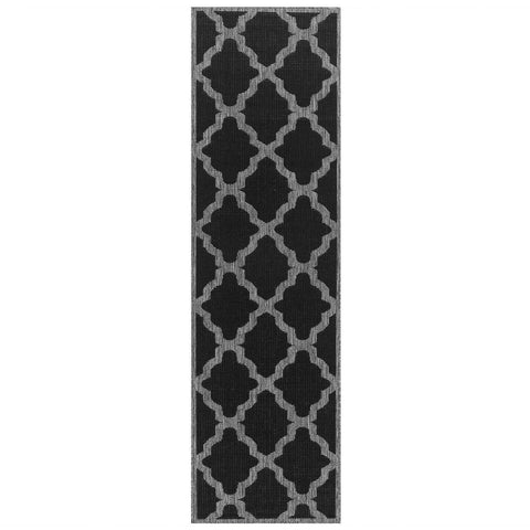 Image of Trellis Black Area Rug RUGSANDROOMS