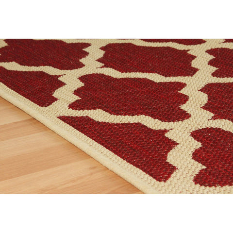 Image of Trellis Red Area Rug RUGSANDROOMS
