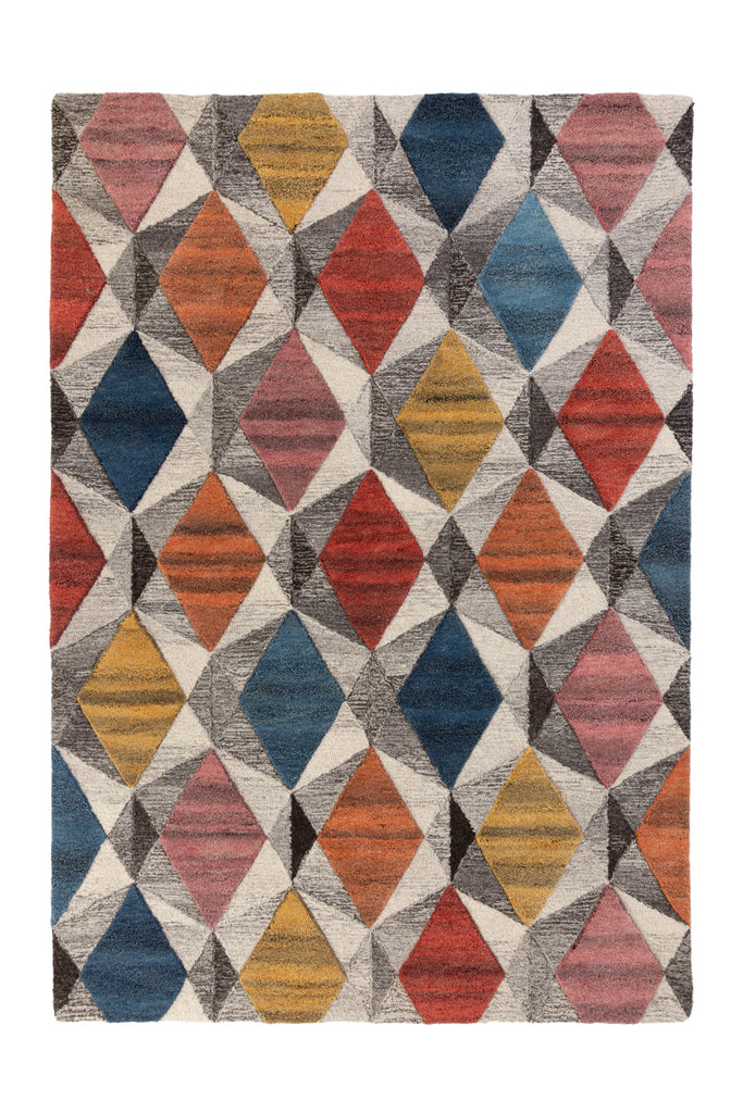Mulberry Bright Geometric Area Rug
