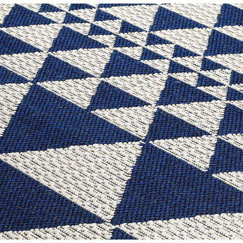 Image of Mona Prism Blue Area Rug RUGSANDROOMS