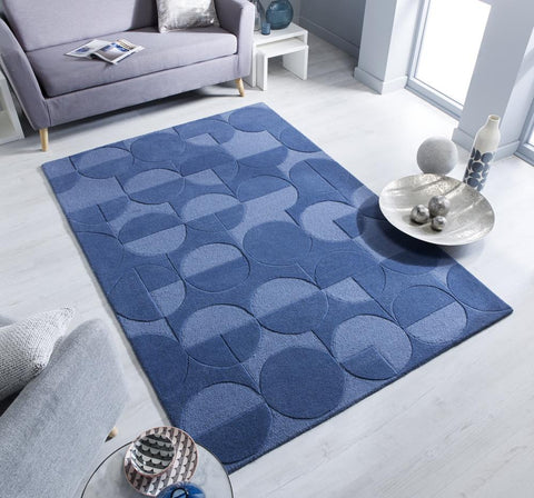 Dominick Denim Blue Area Rug