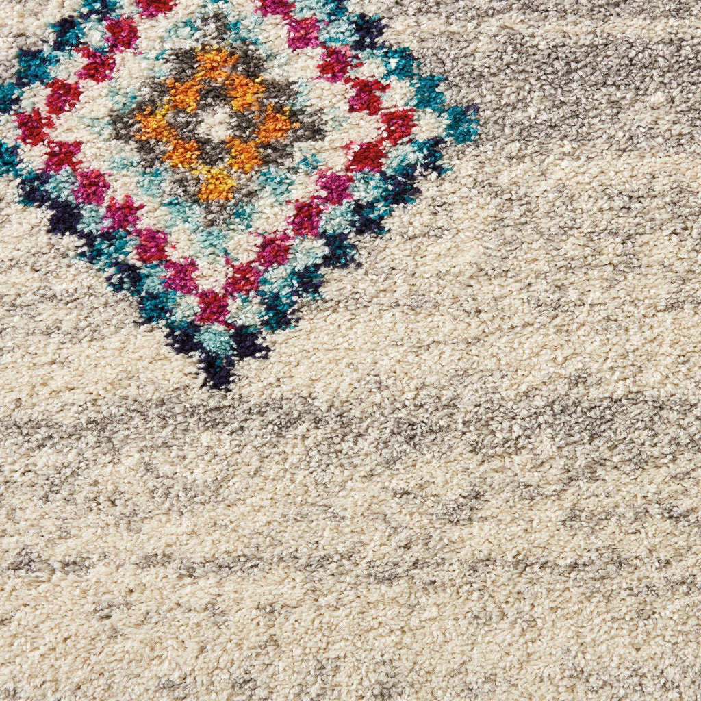 Mena Cream/Grey Area Rug RUGSANDROOMS