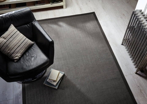 Natural Fibre Grey Area Rug RUGSANDROOMS