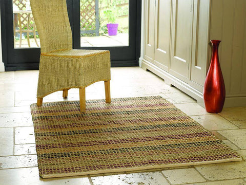 Seagrass Terracotta Area Rug RUGSANDROOMS