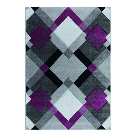 Image of Nimi Grey/Purple Area Rug RUGSANDROOMS