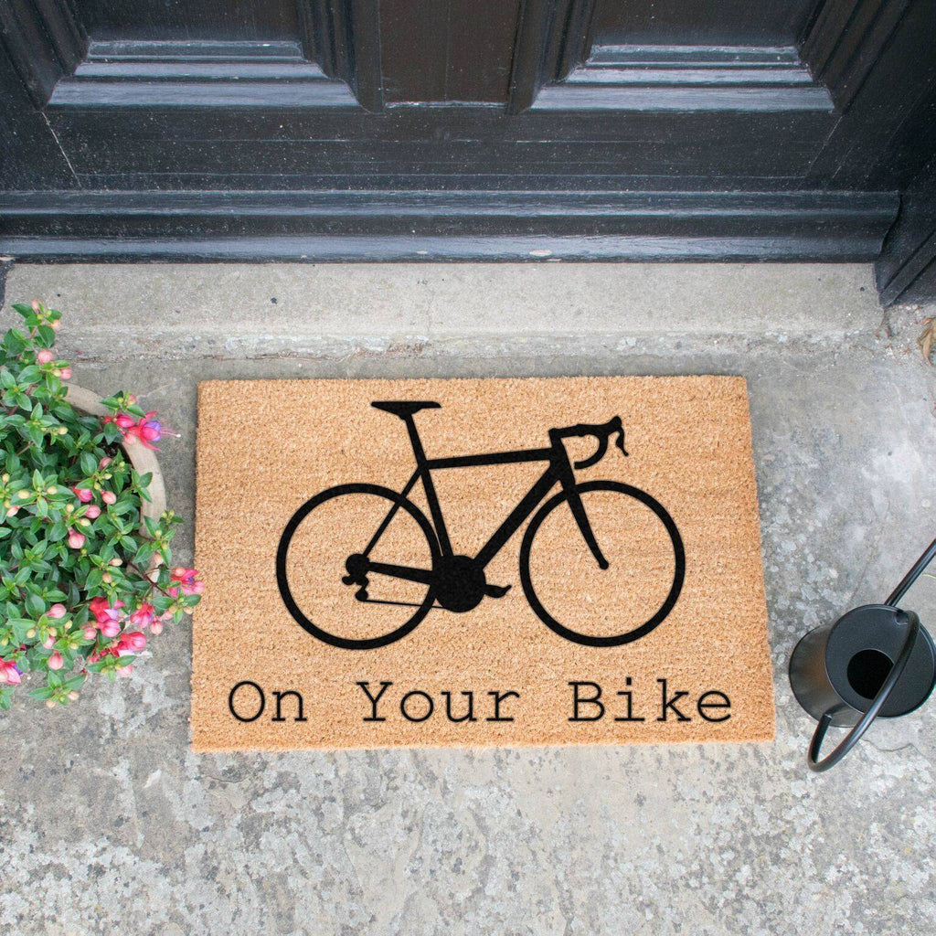 On Your Bike Doormat RUGSANDROOMS