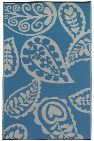 Image of River Blue & White Indoor-Outdoor Area Rug RUGSANDROOMS