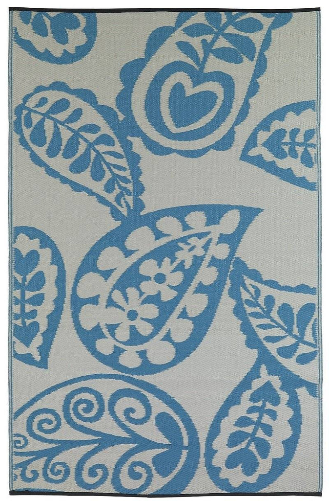 River Blue & White Indoor-Outdoor Area Rug RUGSANDROOMS