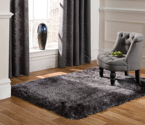 Neval Dark Grey Area Rug RUGSANDROOMS