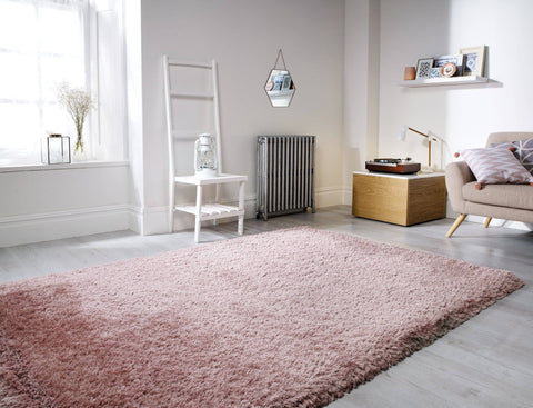 Neval Dusty Pink Area Rug RUGSANDROOMS