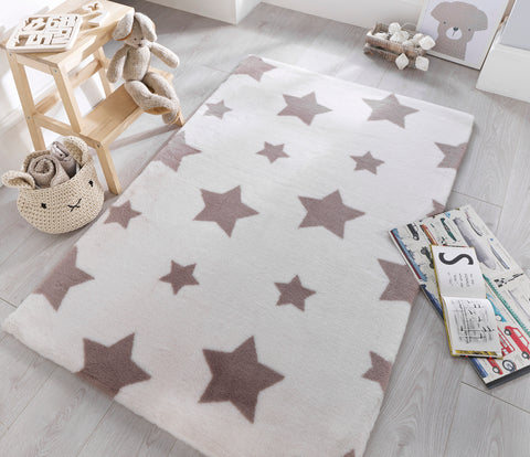 Image of Sherbet White Stars Area Rug
