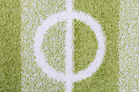 Image of Kid's Football Pitch Green Area Rug RUGSANDROOMS