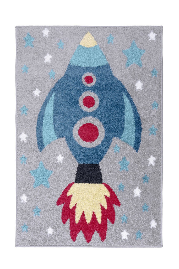 Kid's Rocket Area Rug RUGSANDROOMS