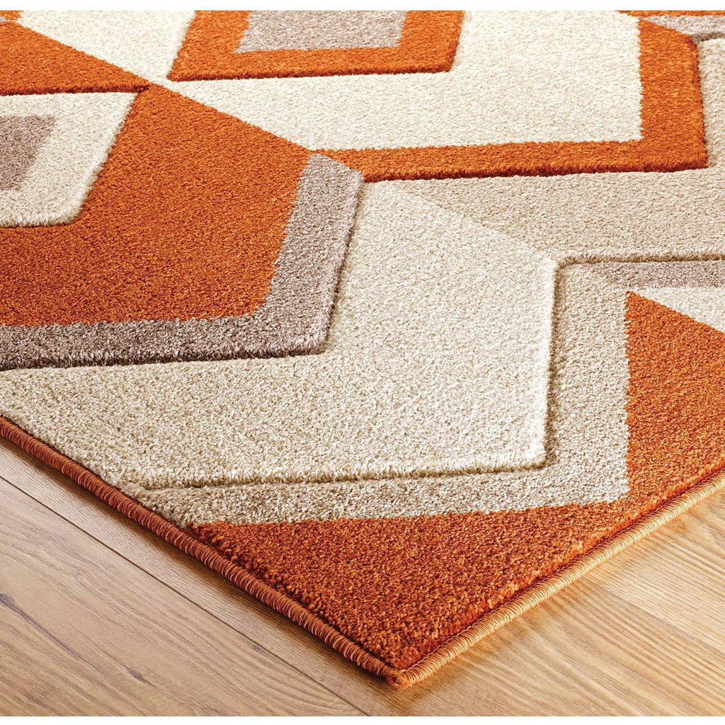Ethnic Red/Beige Area Rug RUGSANDROOMS