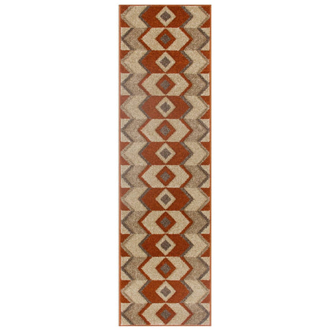 Image of Ethnic Red/Beige Area Rug RUGSANDROOMS