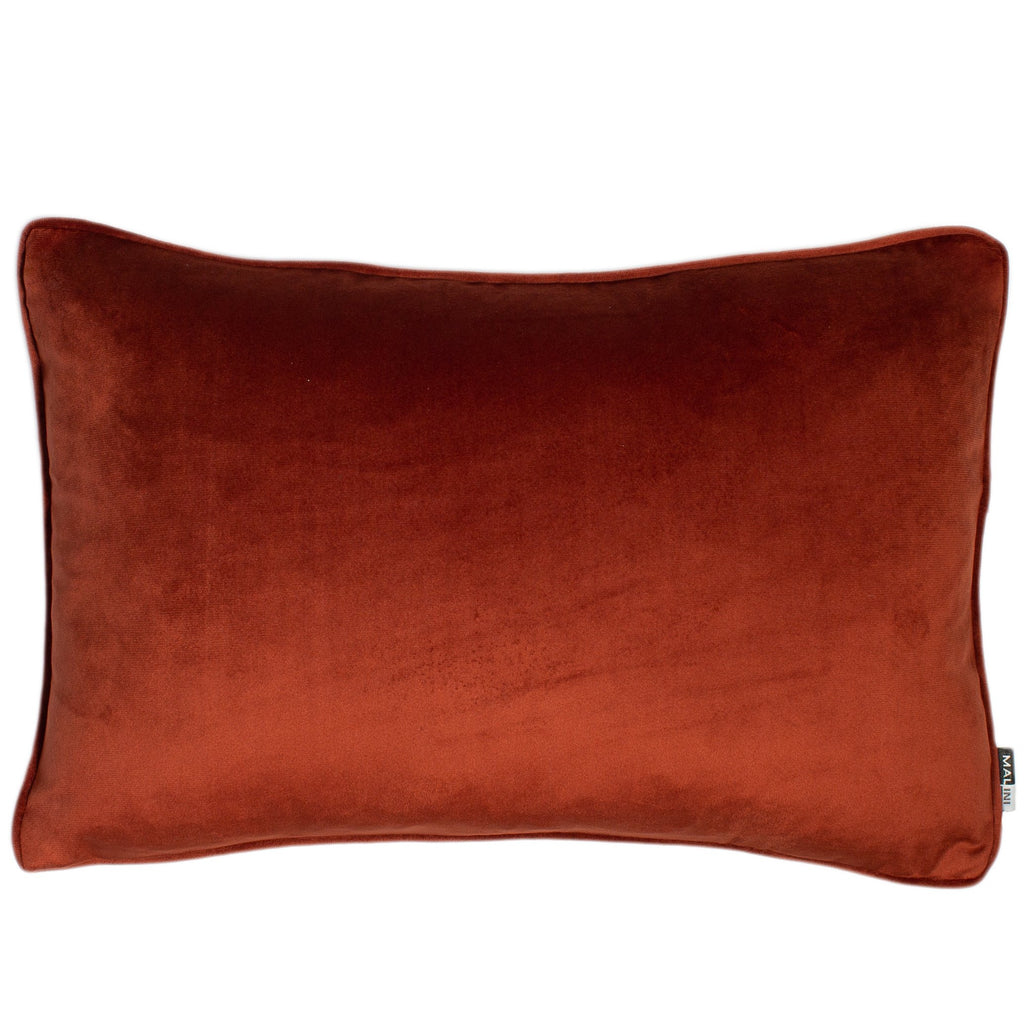 Malini Luxe Rectangle Paprika Cushion