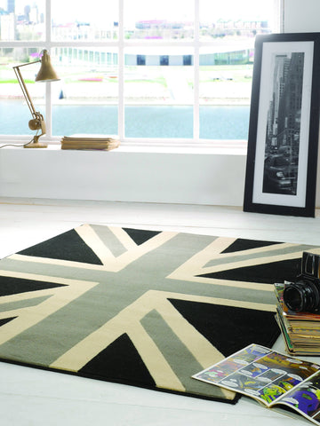 Image of Yuri Grey/Cream Area Rug RUGSANDROOMS