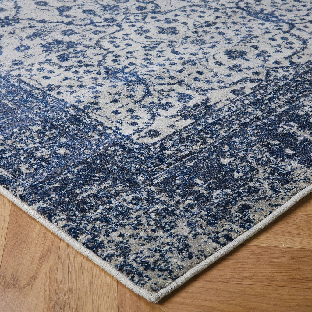 Richmond Navy Blue Area Rug RUGSANDROOMS