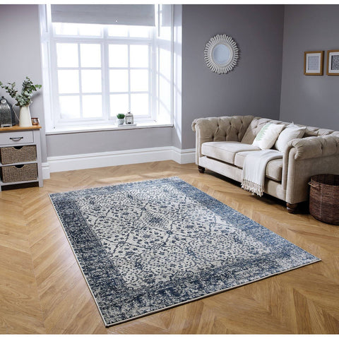Image of Richmond Navy Blue Area Rug RUGSANDROOMS