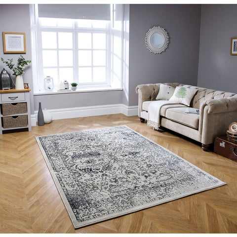 Image of Traditional Blue Area Rug RUGSANDROOMS