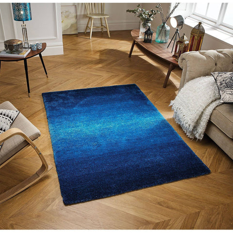 Image of Rio Blue Area Rug RUGSANDROOMS