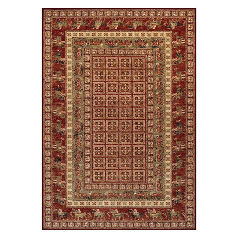 Image of Traditional Royal Red Area Rug RUGSANDROOMS