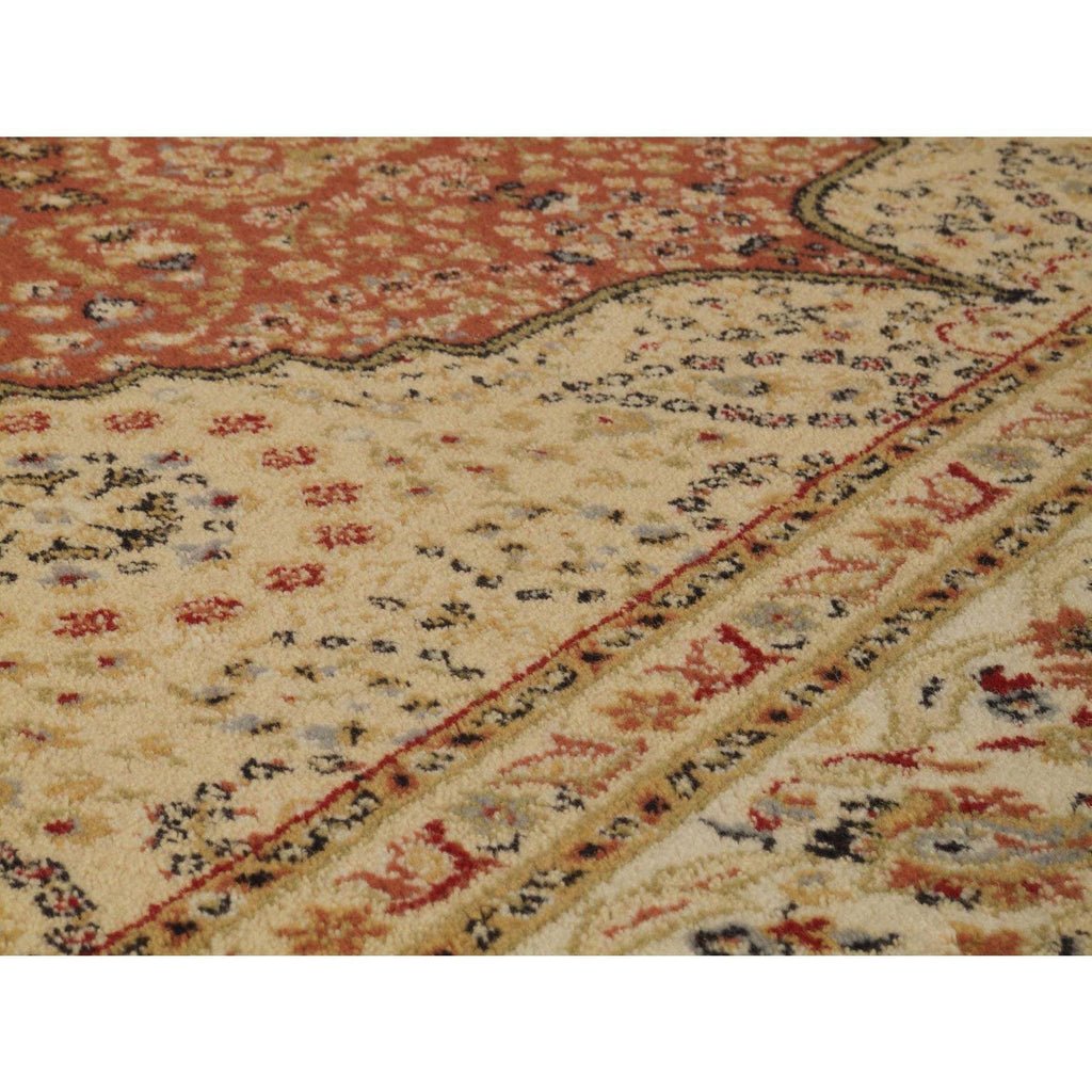 Classic Royal Beige/Red Area Rug RUGSANDROOMS