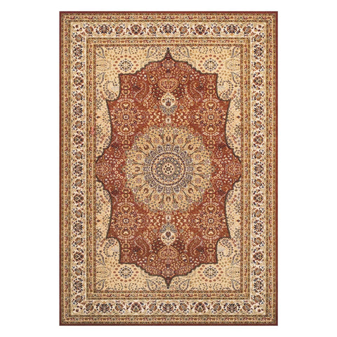 Image of Classic Royal Beige/Red Area Rug RUGSANDROOMS