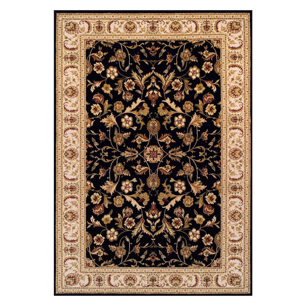 Traditional Black Area Rug RUGSANDROOMS