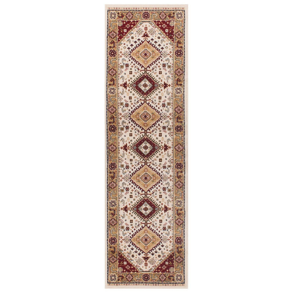 Traditional Cream Area Rug RUGSANDROOMS