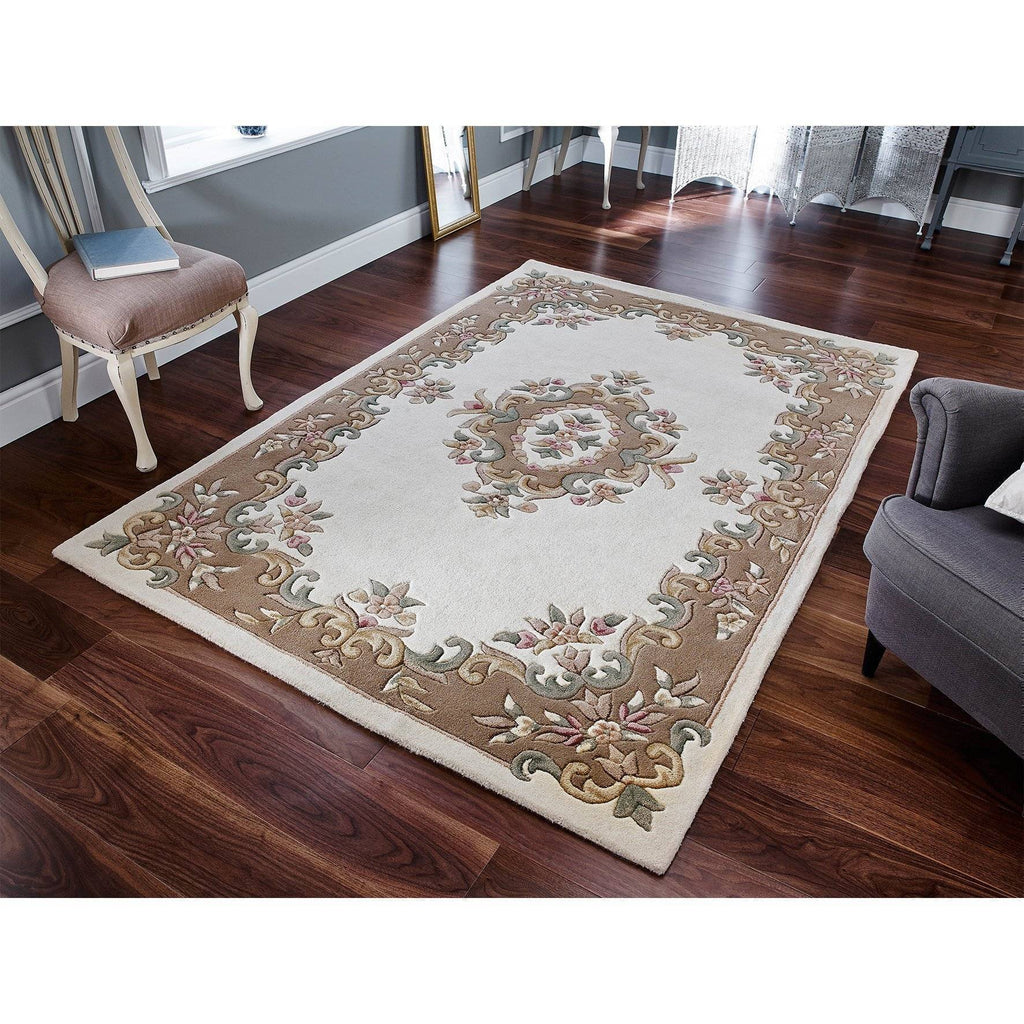 Royal Cream Area Rug RUGSANDROOMS