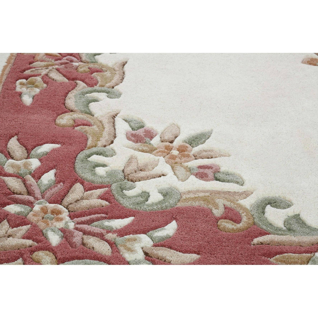 Royal Cream Rose Area Rug RUGSANDROOMS