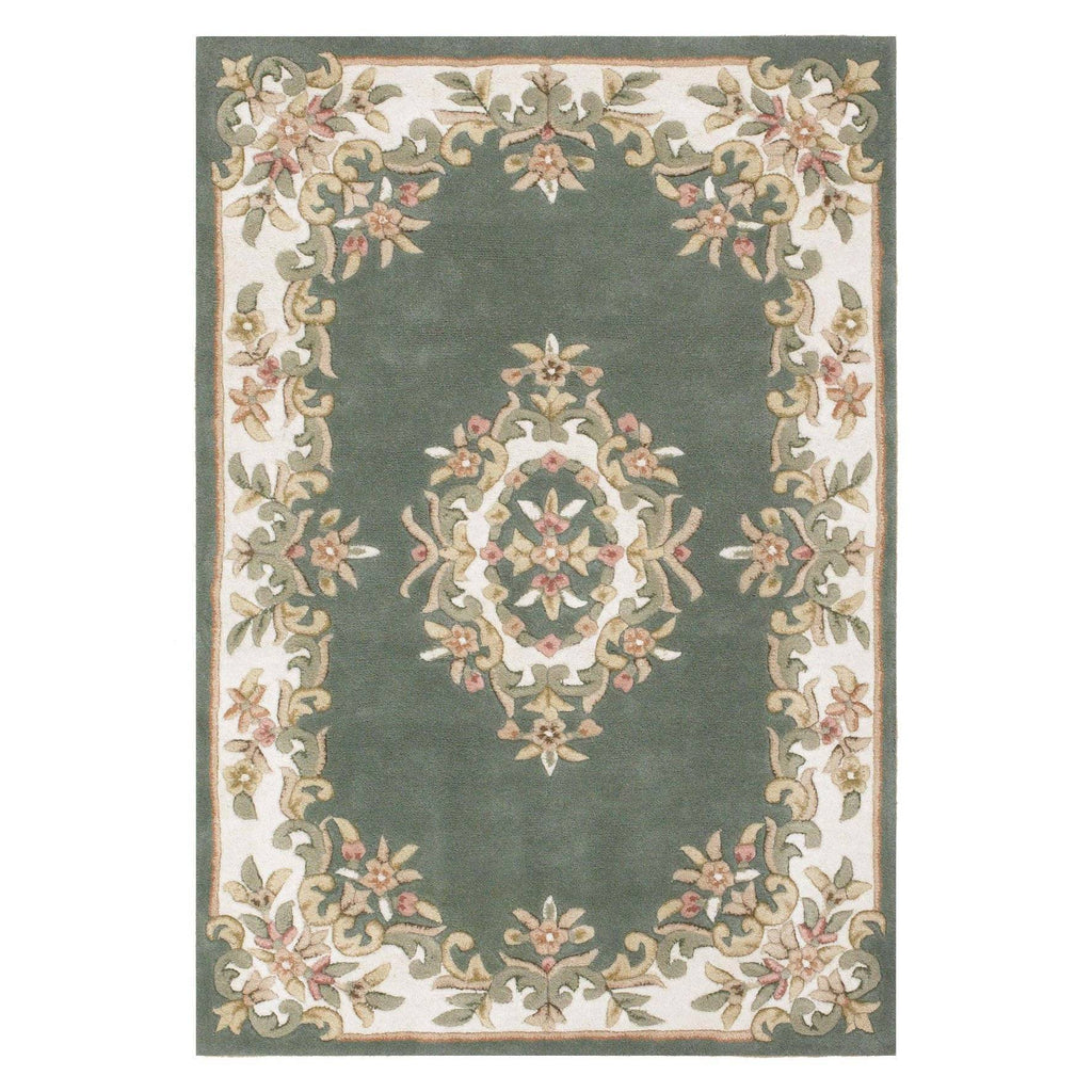 Royal Green Area Rug RUGSANDROOMS