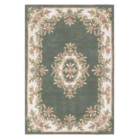 Image of Royal Green Area Rug RUGSANDROOMS