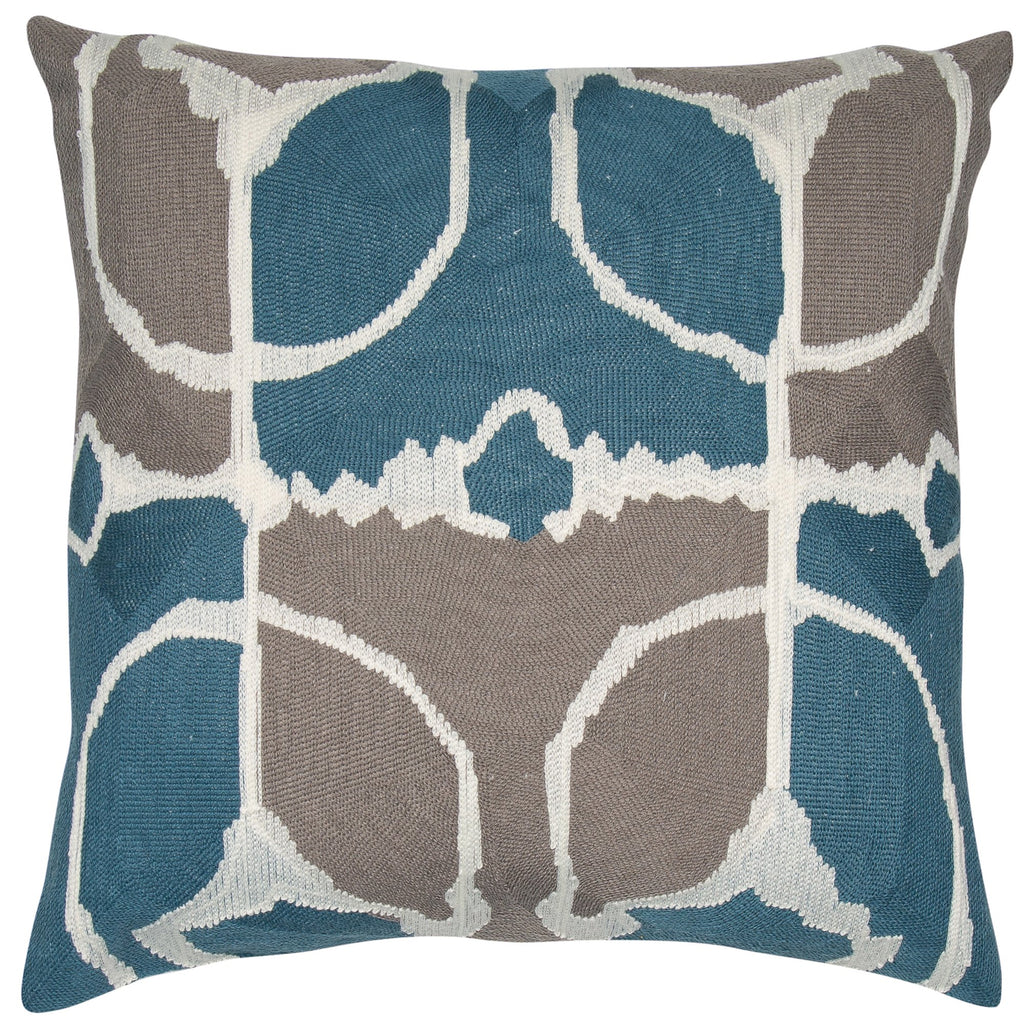 Malini Rumble Teal Cushion