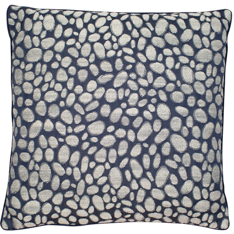 Malini Pebbles Navy Cushion