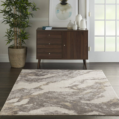 Silk Brown/Ivory Area Rug RUGSANDROOMS